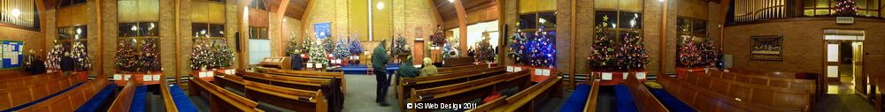 Brownhills Methodist Church Xmas Tree Festival