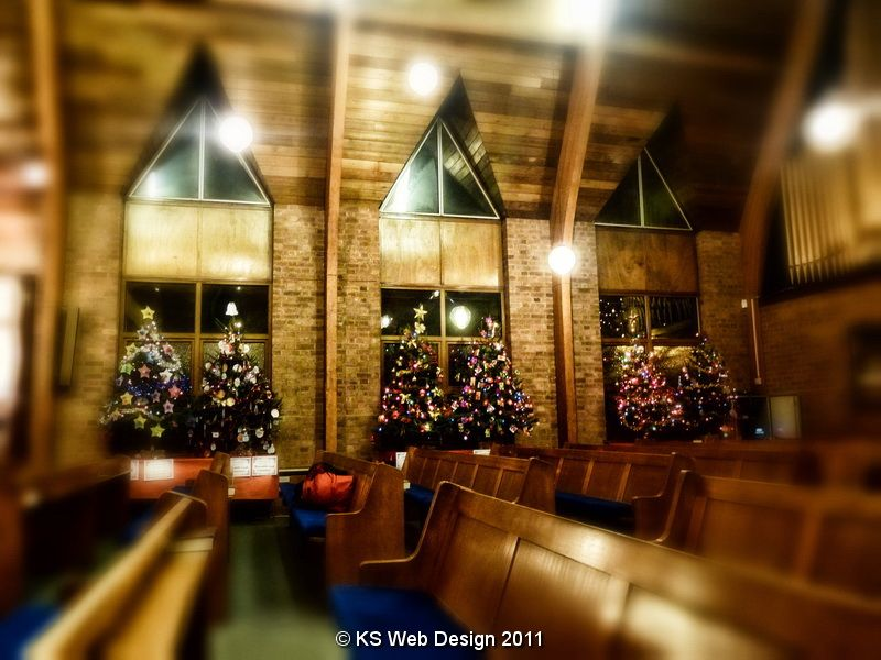 Brownhills Methodist Church Christmas Trees