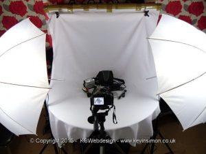 Tabletop lighting setup