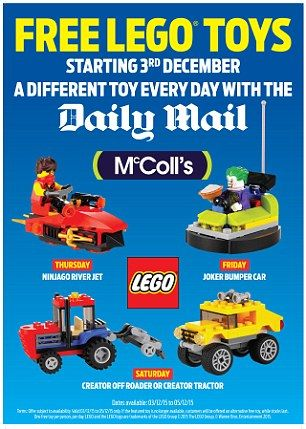 Daily Mail Lego Toys From McColls