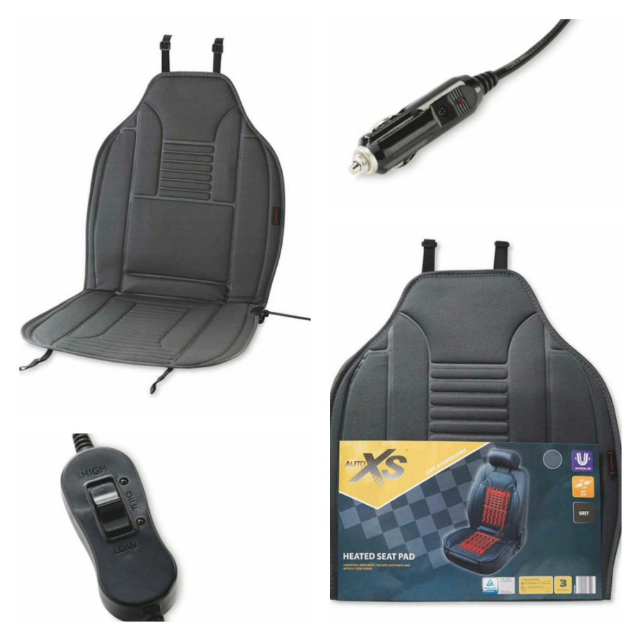 Noticed That Aldi Are Selling Heated Seat Covers Again For Just 1099 Aldicouk Auto Xs Black Heatable Car Pads P 096844226927400